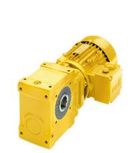 Helical worm geared motors