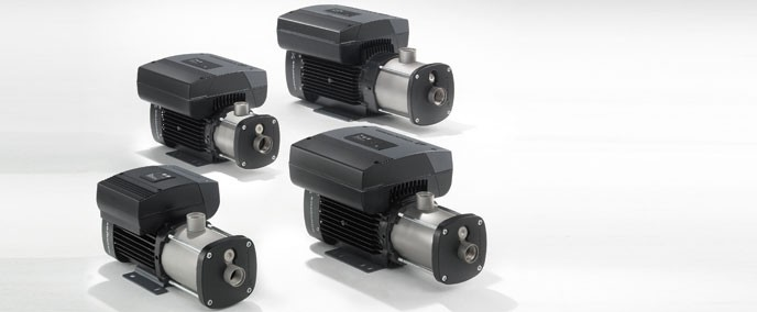 Grundfos CM and CME pumps are non-self-priming, horizontal