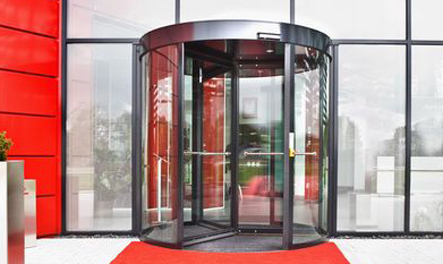 "GEZE Revolving Door TSA 325 NT with ""Push&Go"" function"