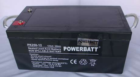 Buy 250Ah 12V Rechargeable VRLA Sealed Lead Acid Battery