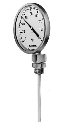 Buy Bimetallic thermometer with steel housing