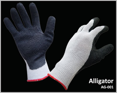 Buy Polycotton Seamless Knitted With Natural Latex Palm Coated Glove