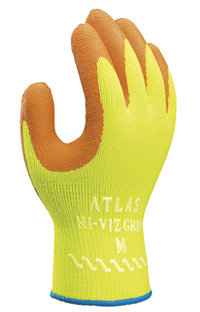 Buy Atlas Hi–Viz Grip Gloves