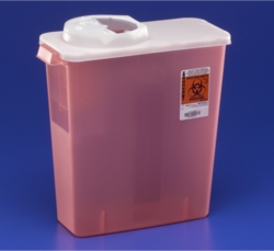 Buy Dialysis Sharps Disposal Containers with Rotor & Hinged Opening Lid