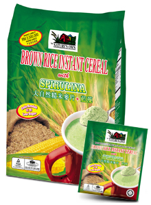 Buy Brown Rice Instant Cereal with Spirulina