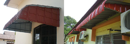 Fixed Metal Awning Buy In Melaka