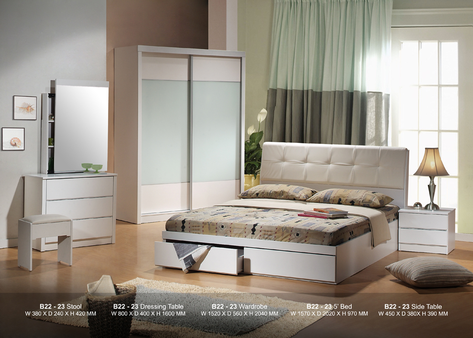 Pure White Bedroom Set