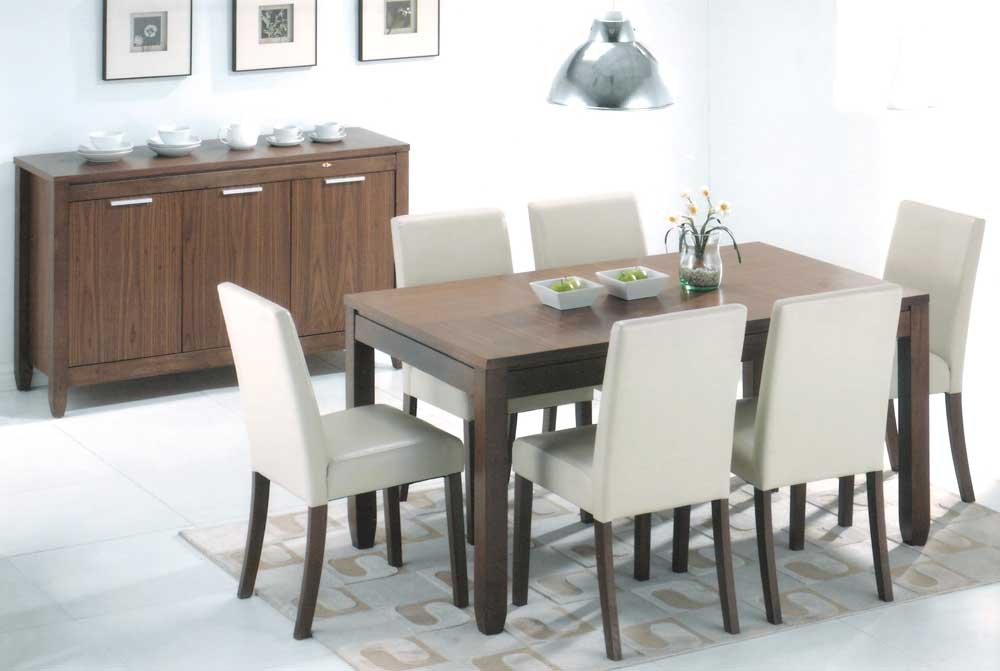 Buy Walnut Finish Alabama Dining Set