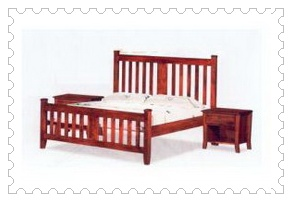 Athena Solidwood Queen Bed