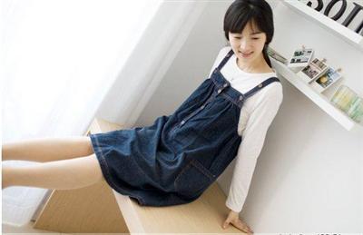 Buy Korean Jeans Maternity Dress BCMW018