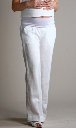 linen pants maternity - Pi Pants