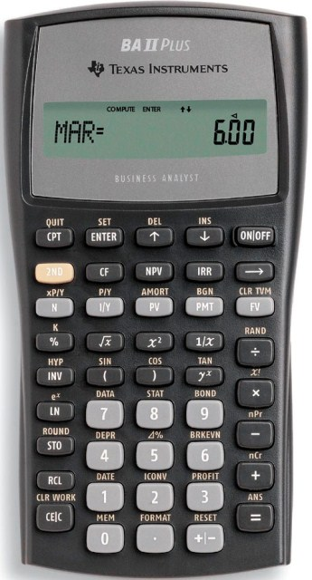 BAII PLUS CALCULATOR