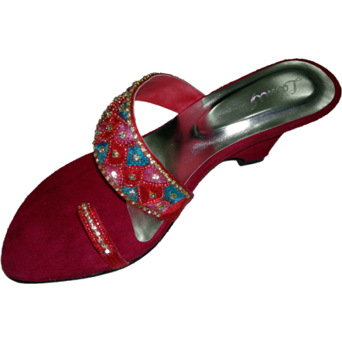 Buy Wedge sandals decorated with jewel ornamentation lm-k10