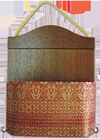 Buy Letter holder & key hanger nyatoh rosewood songket