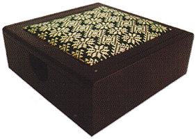 Buy Memo pad box rosewood songket