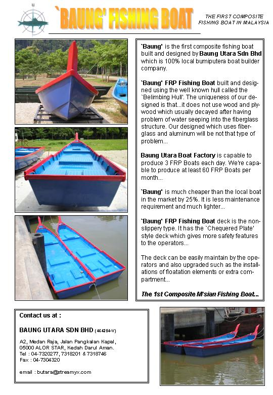 Buy Baung FRP Fishing Boat