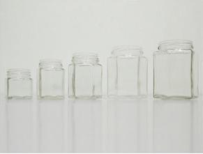 Buy Hexagon Glass Jar