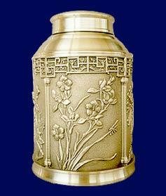 Buy Pewter craft tea caddy