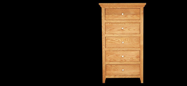 Buy Aston 5 Drawer Tallboy Chest