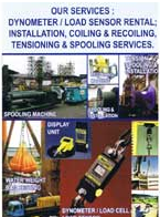 Buy DYNOMETER RENTAL, COILING & RECOILING,HYDRAULIC CUTTERS/PARTS,CABLE SOCK AND ACCESSORIES