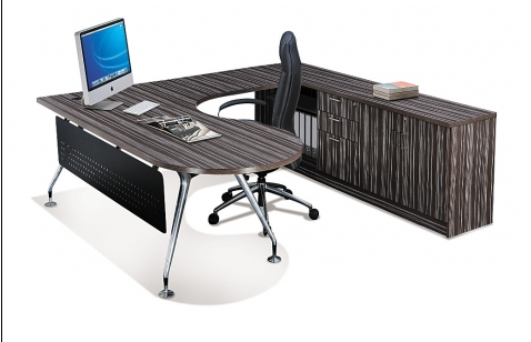 Buy Office furniture Executive P-shaped Table with Abies Leg
