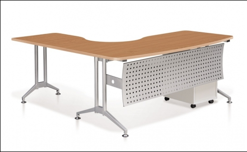 Buy Office furniture Executive L-shaped Table with Modesty Panel & Imax Leg