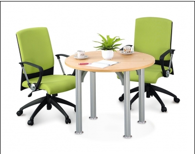 Buy Office furniture Round Meeting Table with Pole Leg