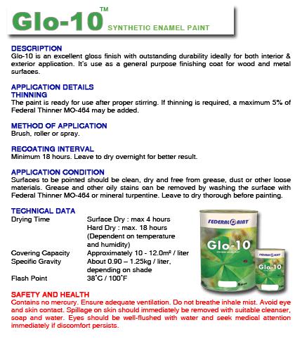 Buy Glo-10 Synthetic Enamel