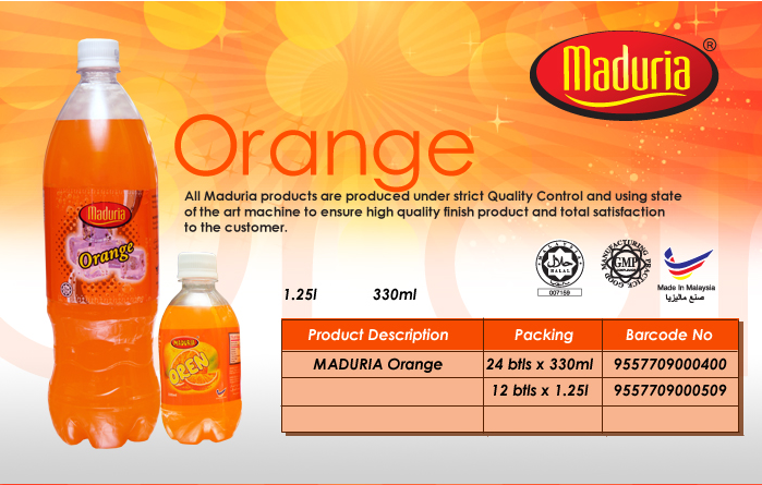 Buy Soft drinks, carbonated - Orange Flavour