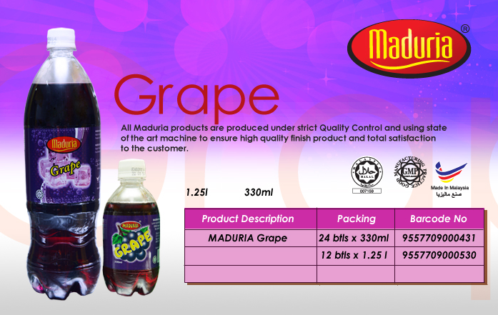 Buy Soft drinks, carbonated - Grape Flavour