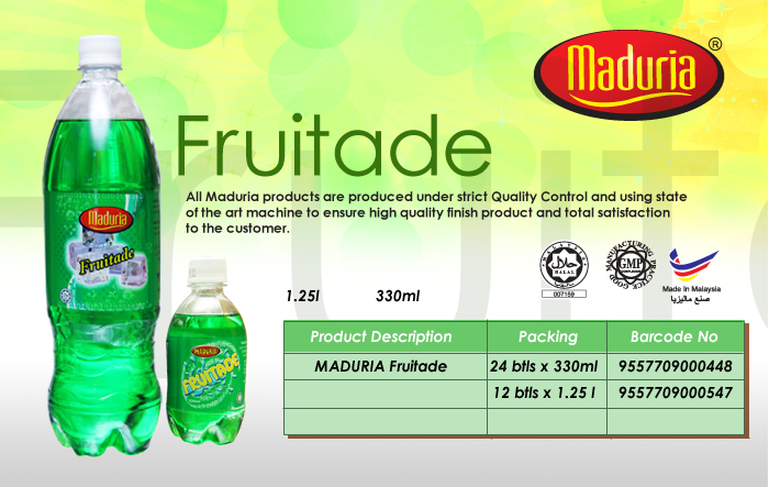 Buy Soft drinks, carbonated Fruitade Flavour