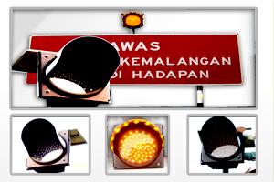 Buy Solar amber light/solar chevron/MNtech HIP reflective sticker