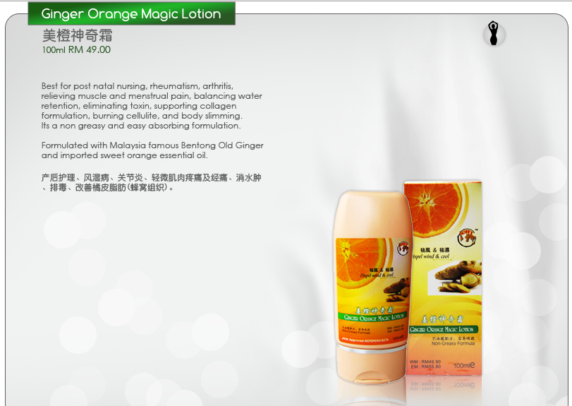 Buy Ginger Orange Magic Lotion