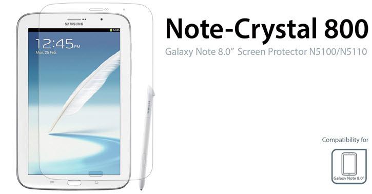 """Buy ZTOSS Note-Crystal 800 Galaxy Note 8.0"""" Screen Protector N5100/N5110 SGP304"""