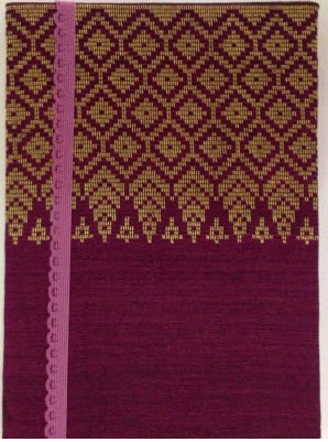 Buy Violet Songket Handmade Notebook