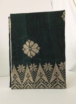 Buy Handmade Dark Green Songket Notebook