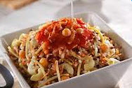 Buy Egyptian Koshary (mixture of macaroni, spaghetti, brown lentils, chickpeas, rice with chaareya, tomato sauce)