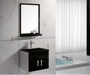 Buy Stainless Steel Cabinet & Glass Basin » GB3002