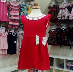 RED PRINCESS BABY GIRL DRESS WITH BOW