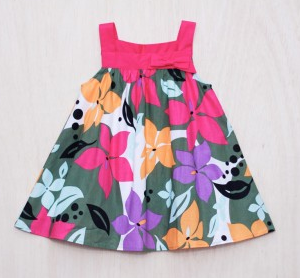 Buy FLORAL DRESS WITH FUCHSIA PINK STRAPS