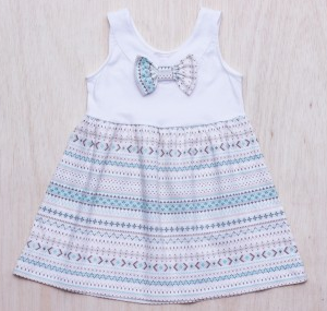 Buy WHITE NORDIC DRESS WITH BOW