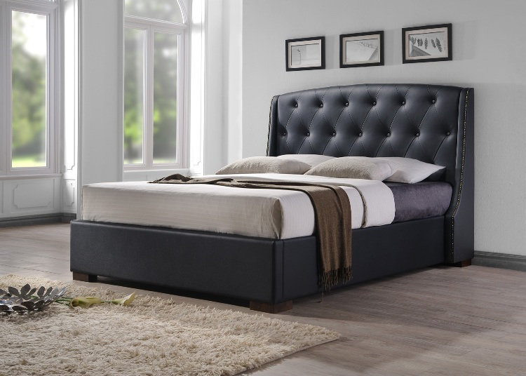Leather Bed PU Black Marco Bed