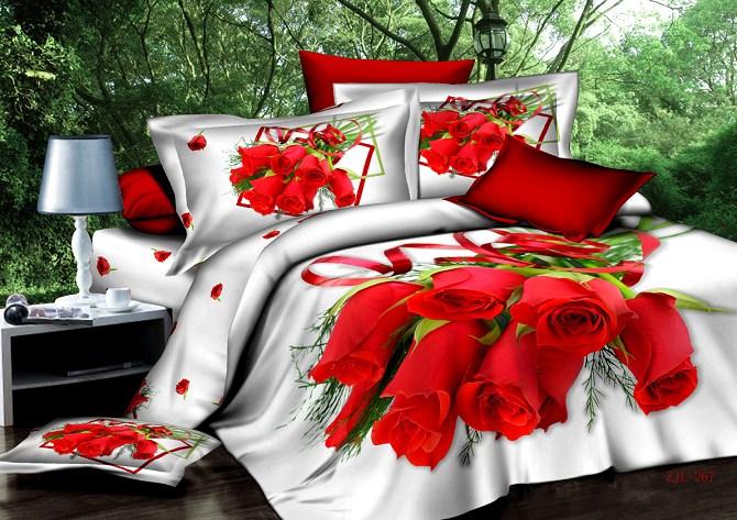 Buy 3D Bedsheet Roses