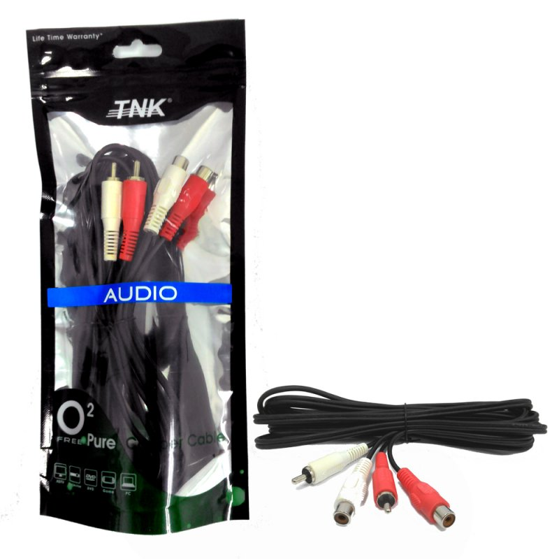 Buy TNK TC2014 2 RCA Plug-2 RCA Socket Audio Mixing Interlink 3M (Nickel)