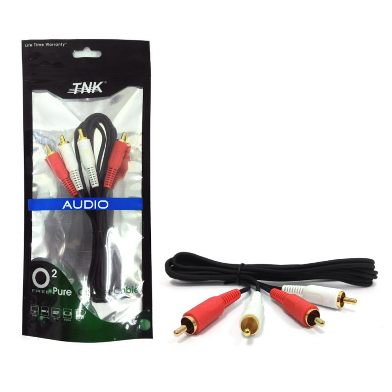 Buy TNK TC2012 2-2 RCA Audio Mixing Interlink 1.2M/3M (Gold)