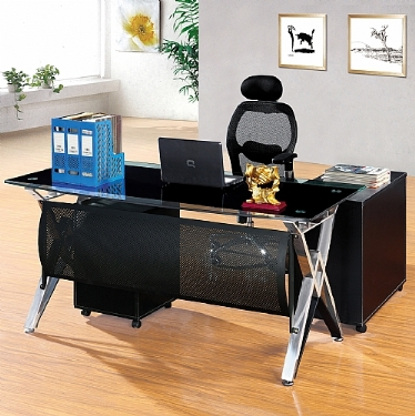 Tempered Glass Executive Desk System