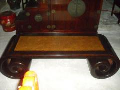 Scroll Table with Mat Top New, Elm Wood