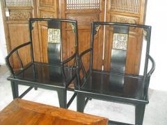 Black Lacquer Chair (A pair)