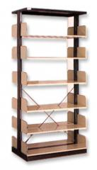 Double Shelves Book Rack With Side Panel