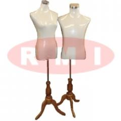 Half Body Mannequin - Wood Leg